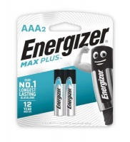 energizer max plus alkaline aaa card 2 pack battery
