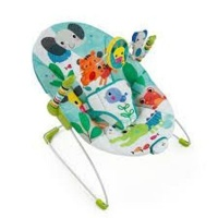 bright starts vibrating bouncer jungle stream pram stroller
