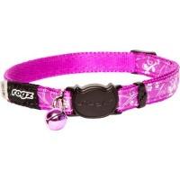 rogz catz silkycat 11mm safeloc breakaway cat collar purple collars leash