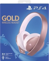 sony playstation gold wireless over ear headphones rose ps4 accessory