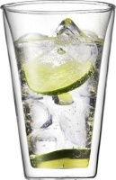 bodum canteen double wall glass set of 2 water coolers filter