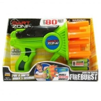 fire burst dart gun 8 foam darts sport outdoor toy