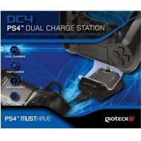 gioteck dc4 dual charge station for dualshock 4 controller ps4 accessory