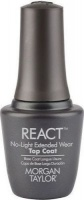 morgan taylor react top coat no light extended wear 15ml cosmetics makeup