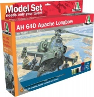 italeri ah 64d apache helicopter model set including paints vehicle