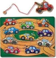 melissa and doug magnetic puzzle games tow truck vehicle