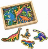 melissa and doug magnetic activities wooden dinosaur vehicle