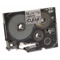 brother tz 131 p touch laminated tape black on clear labeling system