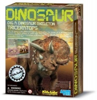 4m kidz labs dig a triceratops learning toy