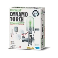 4m green science dynamo torch learning toy
