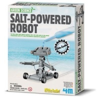 4m green science salt powered robot learning toy