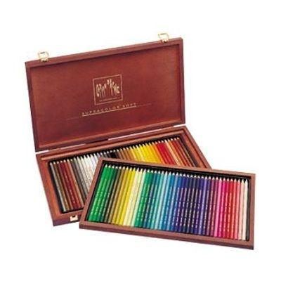 "Photo of Caran D Ache - Supracolor Soft - Set of 80"" Wooden Box"