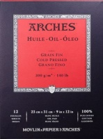 arches huile oil painting paper pad 9x12in 300gsm fine craft supply