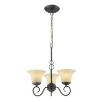 radiant ebele chandelier 3 globe fitting slate black lighting ceiling fan