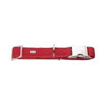 hunter alu strong collar large 45 65cm cherry red collars leash