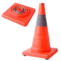 collapsible road cone with flashing light health product