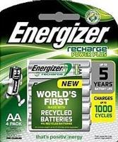 Energizer Recharge Power Plus NH15BP4 NiMH AA Rechargeable Batteries