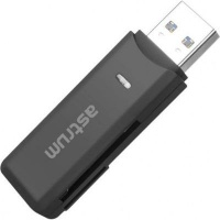 astrum cr030 multi card reader usb 30 black accessory