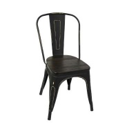 fine living retro metal chair with wooden seat living room furniture
