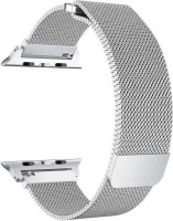 Linxure 38mm Milanese Apple Watch Replacement Strap Silver