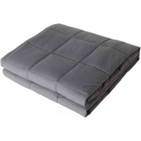 Somnia Luxury Full Size Bed Gravity 7kg Weighted Blanket Grey