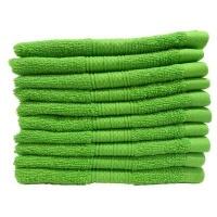 bunty plush 450 face cloth 10 pieces pack lime 30x30cms bathroom accessory