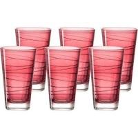 Leonardo Tall Drinking Glass Ruby Red VARIO 6 Piece