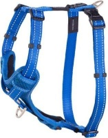 rogz utility control harness blue reflective dog
