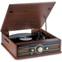 big ben vintage wooden turntable media player accessory