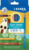 lyra super ferby lacquered pencils 12 pieces metallic art supply