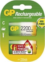 gp rechargeable c cell 2 pack battery