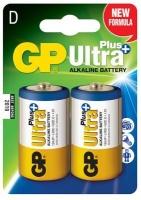 gp ultra plus alkaline d cell 2 pack battery