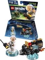 lego dimensions fun pack back to the future doc brown gaming merchandise