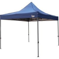 afritrail grand deluxe top centre steel gazebo 3 x 3m navy camping