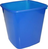 bantex translucent pp square waste paper bin 20l blue school supply