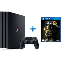 sony playstation 4 pro console black with fallout 76 1tb ps4 accessory