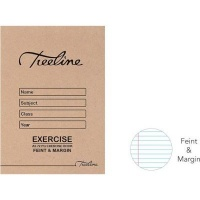 treeline feint margin exercise book a5 72 pages of 20 other