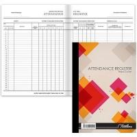 treeline quarter bound attendance register hardcover book other