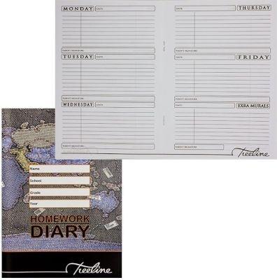 Photo of Treeline Homework Diary