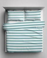 hometex stripes duvet cover set turquiose three quarter bath towel