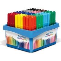 giotto turbo maxi color pens schoolpack 108 pieces art supply