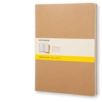 moleskine cahier journal soft squared xx large natural other