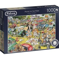 Jumbo Falcon Graham Thompson Jigsaw Puzzle Picnic In The Park