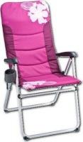 oztrail kokomo 5 position camping arm chair 150 kg pink camping