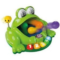 bright starts pop n giggle pond pal musical toy