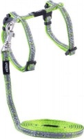 rogz catz nightcat reflective cat lead and h harness dog