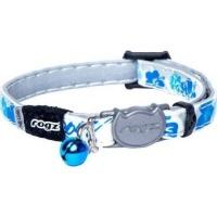 rogz catz glowcat 8mm reflective glow in the dark safeloc collars leash
