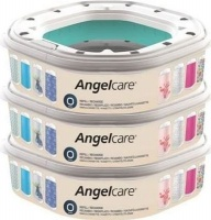 angelcare dress up nappy bin refill octagon 3 pack bag