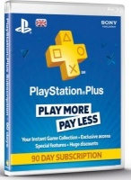sony playstation plus 90 day subscription card for ps3 ps4