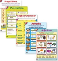 educat wall chart 5 pack english grammer school supply